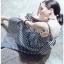 Back-Ribbon Checked Dress Lady Ribbon เดรสสายเดี่ยว thumbnail 2