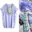NA14010916 &#x1F389 Normal Ally Present embroider Bohemian pompom Style dress&#x1F389 (เดรสปักทั้งชุด แต่งตุ้มสีๆ) thumbnail 6