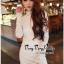 Lady Ribbon Online เสื้อผ้าแฟชั่นออนไลน์ขายส่ง เลดี้ริบบอนของแท้พร้อมส่ง Veryverypreppy เสื้อผ้า VP08240716 Luxury Lace White embroidery dress thumbnail 3