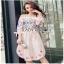 Lady Ribbon Pink Cotton ZARA Dress ขายเดรสผ้าคอตตอน thumbnail 3
