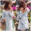Lady Ribbon Online ขายส่งเสื้อผ้าออนไลน์ Lady Ribbon LR01040816 &#x1F380 Lady Ribbon's Made &#x1F380 Lady Mila Sweet Minimal Back-Ribbon Baby Blue Dress thumbnail 2