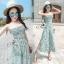 Lady Ribbon Online เสื้อผ้าแฟชั่นออนไลน์ขายส่ง เลดี้ริบบอนของแท้พร้อมส่ง sevy เสื้อผ้า SV07240716 &#x1F389Sevy Stick Stripes Off Shoulder Jumpsuit (+Belt) Type: Jumpsuit thumbnail 1