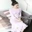 Lady Ribbon Baby Pink Crepe Dress thumbnail 4