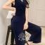 Beauty Navy Elegant Lady Jumpsuit thumbnail 2