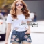 Lady Ribbon Ronnie Casual Denim Short Jeans Set thumbnail 3