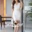SS08010916 Seoul Secret Say's... V Ivory Lace Dress Material : เนื้อผ้าลูกไม้ปักและฉลุเป็นลายดอกไม้ thumbnail 6