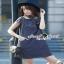 Seoul Secret Catty Denim Dress เดรสเชิ้ตเก๋ ดีเทลน่ารักๆ thumbnail 3