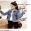 เสื้อผ้าแจ็คเก็ตยีนส์ฟอกสีซีด แฟชั่นแต่งกระเป๋าสไตล์สาวเกาหลี thumbnail 3