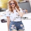 Lady Ribbon Ronnie Casual Denim Short Jeans Set thumbnail 2