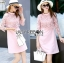 Lace Dress in Pink เดรสตกแต่งผ้าลูกไม้สีชมพูอ่อนสไตล์ฮอลิเดย์ thumbnail 1
