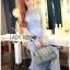 Lady Ribbon Online ขายส่งเสื้อผ้าออนไลน์เลดี้ริบบอน LR09010816 &#x1F380 Lady Ribbon's Made &#x1F380 Lady Nara Feminine Elegant Crystal Embroidered Lace Dress thumbnail 5