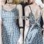 Back-Ribbon Checked Dress Lady Ribbon เดรสสายเดี่ยว thumbnail 1