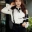 SS13010916 Seoul Secret Say's... Lovely Bibby Nifty Bowwy Set Material : เซ็ทสวยๆ เก๋ๆ สไตล์สาวมีคลาส thumbnail 3