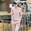 สื้อผ้าแฟชั่นเกาหลีพร้อมส่งชุดเซท 2 ชิ้น เสื้อแขนยาว++กางเกงขายาว thumbnail 3