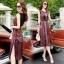Lady Ribbon Online เสื้อผ้าแฟชั่นออนไลน์ขายส่ง เลดี้ริบบอนของแท้พร้อมส่ง sevy เสื้อผ้า SV03240716 &#x1F389Sevy Northern Silk Pattern Open Leg Maxi Dress thumbnail 4