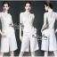 เสื้อเขนกุดลุคก์เกาหลีสีขาว thumbnail 1