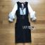 Lady Ribbon Aerin Babydoll Black & White Polkadot Dress thumbnail 5