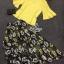 Lady Ribbon Online เสื้อผ้าแฟชั่นออนไลน์ขายส่ง เลดี้ริบบอนของแท้พร้อมส่ง sevy เสื้อผ้า SV04240716 &#x1F389Sevy Two Pieces Of Yellow Blouse With Flora Layer Skirt Sets thumbnail 4