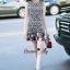 NA11010916 &#x1F389Normal Ally Present Love jacquard skirt dress&#x1F389 (เดรส , มีซับใน, ซิปหลัง) thumbnail 2