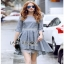 Lady Ribbon Check Cotton Dress with Lace Lining thumbnail 2