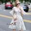Lady Ribbon Online เสื้อผ้าออนไลน์ขายส่ง Normal Ally เสื้อผ้า NA13150816 &#x1F389Normal Ally Present flower print summer dress&#x1F389 thumbnail 2