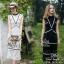 Lady Ribbon Online เสื้อผ้าแฟชั่นออนไลน์ขายส่ง เลดี้ริบบอนของแท้พร้อมส่ง Siter ST18240716 &#x1F340สินค้าพร้อมส่ง&#x1F340 한국에 의해 설계된 2Sister Made, Black & White Beauty Elegant Supreme Flora Lace thumbnail 1