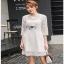 Lady Ribbon Basic White Lace Dress thumbnail 4