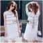 Lady Ribbon Online ขายส่งเสื้อผ้าออนไลน์ ขายส่งของแท้พร้อมส่ง Lady Ribbon LR08250716 &#x1F380 Lady Ribbon's Made &#x1F380 Lady Kate Sporty Sweet White Lace Dress เดรสผ้าลูกไม้ thumbnail 1