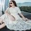 Lady Ribbon Nasha Sweet Classic White Lace Dress with Belt thumbnail 4