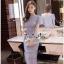 Lady Ribbon Online เสื้อผ้าแฟชั่นออนไลน์ขายส่ง เลดี้ริบบอนของแท้พร้อมส่ง Veryverypreppy เสื้อผ้า VP02240716 Luxury Classic Vintage Lace Long Dress thumbnail 3