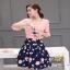 เสื้อผ้าแฟชั่นเกาหลีสวยๆชุดเซท เสื้อ+กระโปรง thumbnail 4