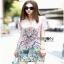 Chinese Style Printed Shirt Dress Lady เชิ้ตเดรส thumbnail 3