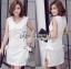 White Dress เดรสผ้าวิสโคส thumbnail 3