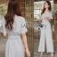 Lady Ribbon Pale-Grey Jumpsuit จัมป์สูทขายาว thumbnail 2
