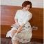 เชิตเดรสแฟชั่นตัวยาวตัดต่อด้วยงานผ้าลูกไม้เกาหลีช่วงกระโปรง thumbnail 4