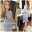 Lady Ribbon Online ขายส่งเสื้อผ้าออนไลน์เลดี้ริบบอน LR09010816 &#x1F380 Lady Ribbon's Made &#x1F380 Lady Nara Feminine Elegant Crystal Embroidered Lace Dress thumbnail 3