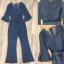 ผ้ายีนส์ฟอกอย่างดี สีสวยค่ะ แขนทรงระบายแต่งรุ่ย thumbnail 5