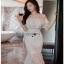 Lady Ribbon Ruffle Lace Dress เดรสชีฟองสีขาว thumbnail 2