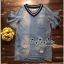 Lady Ribbon Online ขายส่งเสื้อผ้าออนไลน์ Very very pretty เสื้อผ้า VP04100816 Chic Denim Flared sleeves Dress thumbnail 4