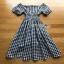 Lady Ribbon Country Style Check Cotton Dress เดรสผ้าคอตตอน thumbnail 9