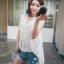 เสื้อแฟชั่นเกาหลีแขนกุดสีขาวแต่งโครเช thumbnail 3