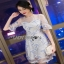 Lady Ribbon Tulle Cocktail Dress ค็อกเทล thumbnail 4