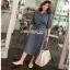 Sara Denim Shirt Lady Ribbon Dress เชิ้ตเดรส thumbnail 3