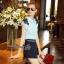 Lady Ribbon Online เสื้อผ้าออนไลน์ขายส่ง Normal Ally เสื้อผ้า NA04150816 &#x1F389Normal Ally Present flower lace decorate shirt and pant set&#x1F389 (เสื้อแต่งลูกไม้บ่า+กางเกงกระโปรงแต่งเชือกเปียเอว) thumbnail 4