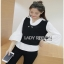 Lady Ribbon Emily Preppy Chic Black and White Cotton Top เชิ้ตขาว thumbnail 4