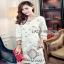 White Crepe Lady Ribbon Mini Dress มินิเดรสผ้าเครป thumbnail 1