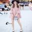 เสื้อผ้าเกาหลีสีชมพู Pink thumbnail 5
