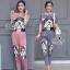 Lady Ribbon Online ขายส่งเสื้อผ้าออนไลน์ เสื้อผ้า Sevy SV12030816 &#x1F389Sevy Two Pieces Of Bulldog Pleat Blouse With Pants Sets thumbnail 1
