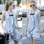 Lady Ribbon Online เสื้อผ้าออนไลน์ขายส่ง Normal Ally เสื้อผ้า NA12150816 &#x1F389Normal Ally Present pastel blue and lace summer dress&#x1F389 (เดรสผ้าสวย , ซับในต่อชายลูกไม้ค่ะ) thumbnail 1