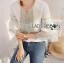 LR02290816 &#x1F380 Lady Ribbon's Made &#x1F380 Lady Cori Pastel Embroidered Ruffle-Sleeve Cotton thumbnail 5